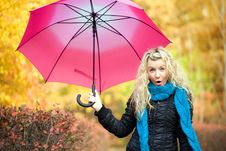 Free Young Woman In Autumn Stock Photos - 6698703
