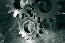 Free Gears And Cogs In Bronze Royalty Free Stock Images - 6698719