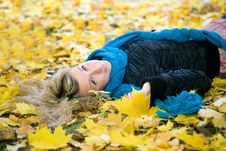 Free Young Woman In Autumn Stock Photos - 6698773