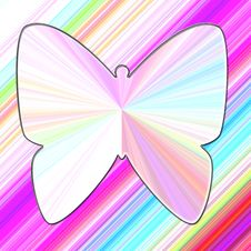 Brightly Colored Butterfly Stock Photo