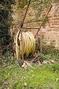 Free Garden Hose On Reel. Royalty Free Stock Photos - 675418