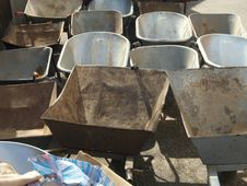 Free Wheelbarrows Having A Break Stock Photo - 670550