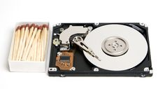 Open Laptop HDD Size Royalty Free Stock Photo