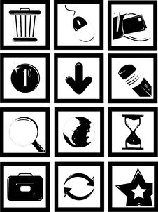 Free Various Icons Royalty Free Stock Photo - 673825
