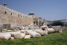 Free Jerisalem Old City Walls Stock Image - 674331
