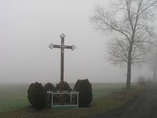 Free Chapel In The Fog Royalty Free Stock Image - 674516
