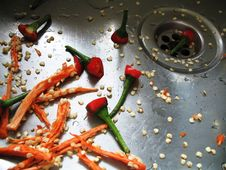 Disposed Chillies Royalty Free Stock Image