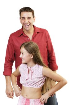 Free Father And Daughter Royalty Free Stock Image - 675546