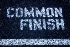 Free Common Finish Sign On Track & Field Course Stock Photos - 677723