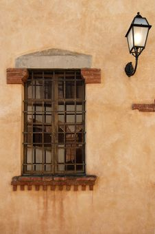 The Window And The Lamp Royalty Free Stock Images