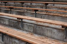 Free Old Empty Benches Royalty Free Stock Photography - 679577