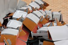 Pile Of Auditorium Chairs Royalty Free Stock Images