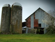 Barn Silo Stock Photography