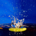 Free Splash Background With Sinking Apple Stock Photos - 6704533