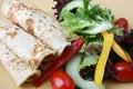 Free Salad With Pancakes Stock Photos - 6705573