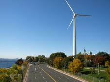 Free Windmill Highway Stock Image - 6700131