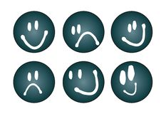 Free Six Different Faces - Vector Royalty Free Stock Images - 6700159