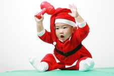 Free Chinese Santa Boy Stock Image - 6700591