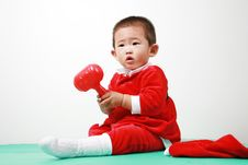 Free Chinese Santa Boy Royalty Free Stock Image - 6700606