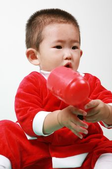 Free Chinese Santa Boy Royalty Free Stock Photo - 6700615