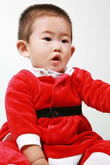 Free Chinese Santa Boy Royalty Free Stock Photo - 6700625