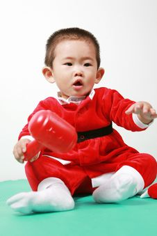 Free Chinese Santa Boy Royalty Free Stock Image - 6700636