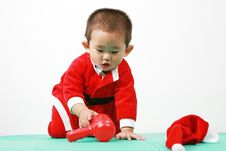 Free Chinese Santa Boy Stock Photography - 6700652