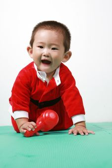 Free Chinese Santa Boy Royalty Free Stock Photography - 6700657