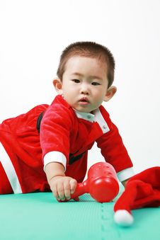 Free Chinese Santa Boy Stock Photo - 6700660