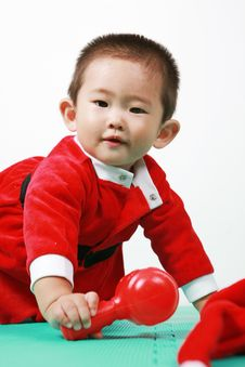Free Chinese Santa Boy Royalty Free Stock Photo - 6700665