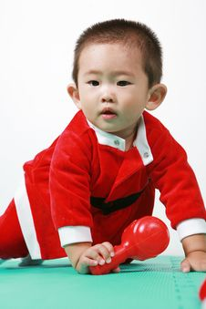 Free Chinese Santa Boy Royalty Free Stock Photos - 6700668