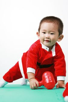 Chinese Santa Boy Stock Photos