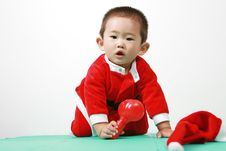 Free Chinese Santa Boy Royalty Free Stock Photography - 6700677