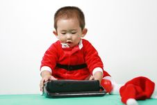 Free Chinese Santa Boy Stock Photo - 6700720