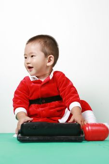 Free Chinese Santa Boy Stock Photography - 6700722