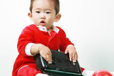 Free Chinese Santa Boy Royalty Free Stock Photography - 6700747