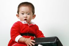 Free Chinese Santa Boy Stock Photography - 6700752