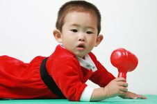 Free Chinese Santa Boy Royalty Free Stock Photography - 6700767