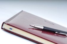 Free Business Stuff, Pen And Agenda Royalty Free Stock Image - 6701196
