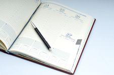Free Blank, Opened Agenda Stock Photo - 6701460