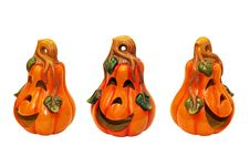 Three Small Pumpkins Stock Image