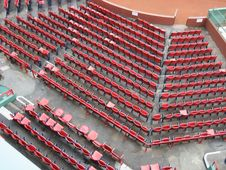 Free Red Seats At Fenway Stock Photography - 6702322