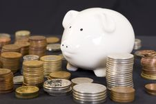 Free Piggybank With Various Currency Stock Photos - 6702343