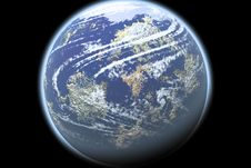 Earth On Black Royalty Free Stock Image