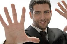 Free Young Man With Hand Gesture Stock Photography - 6702772