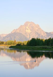 The Oxbow Bend Turnout In Grand Teton Royalty Free Stock Photography