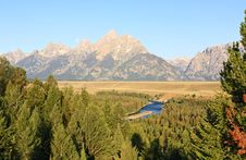 Free The Snake River Overlook In The Grand Teton Royalty Free Stock Photography - 6703177