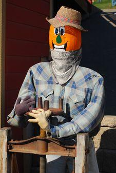 Free Pumpkin Puppet Farmer Stock Image - 6703371