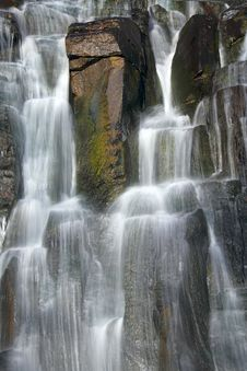 Free Close-up Of Waterfall On Bossed Stream Stock Images - 6704184