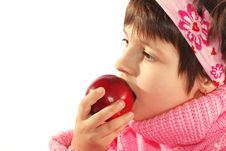 Free Child Eat Apple Royalty Free Stock Images - 6704469
